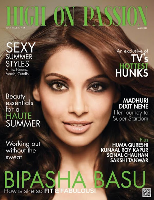 Gorgeous Bipasha Basu on the cover of High On Passion-May issue