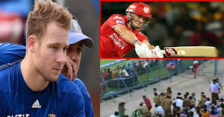 South Africa batsman David Miller six in IPL blinds policeman in one eye