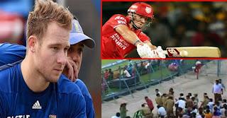 South Africa batsman David Miller six in IPL blinds policeman in one eye