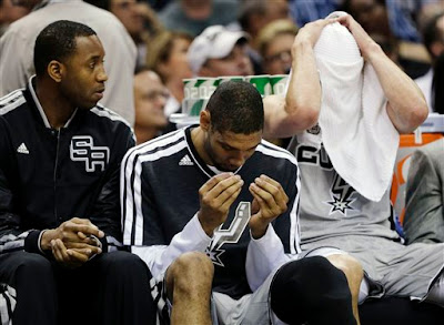 Spurs bench, McGrady Duncan and Ginobili