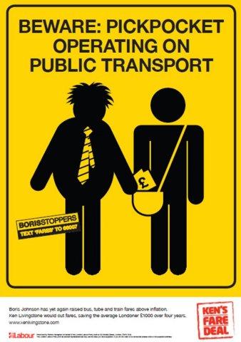 Beware pickpockets: Ken's ad campaign