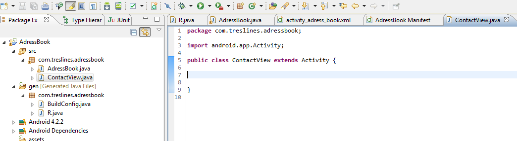 how to add new activity in manifest file android studio