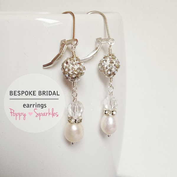 Bespoke Bridal Earrings by Poppy Sparkles #wedding #bride #jewellery #pearls