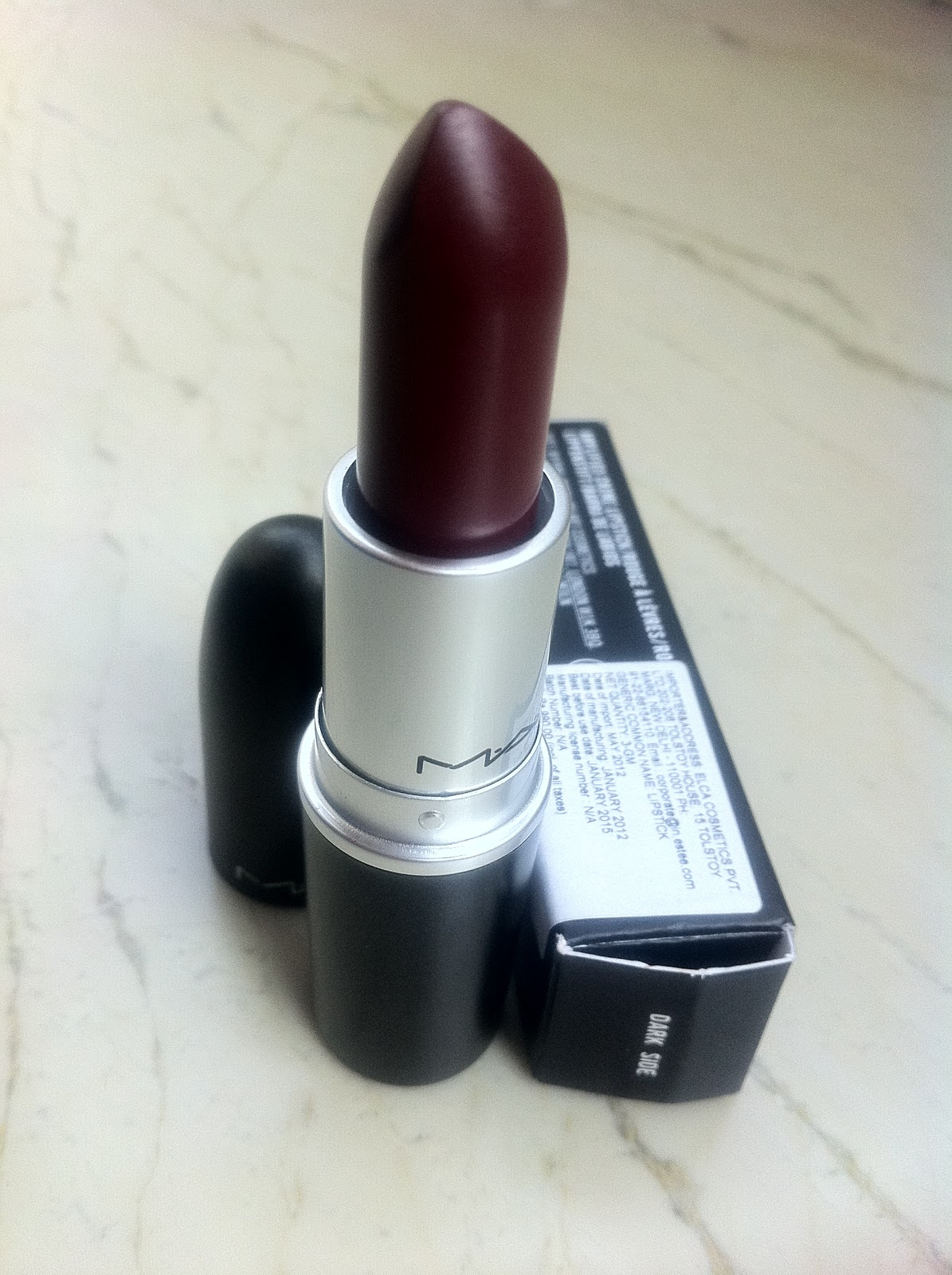 MAC Amplified Creme Lipstick Dark Side - Review, Photos ...