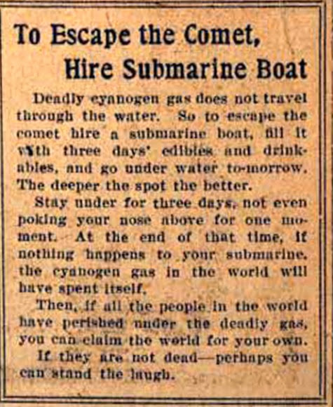 Sounds like a plan. Newspaper clipping from 1910.