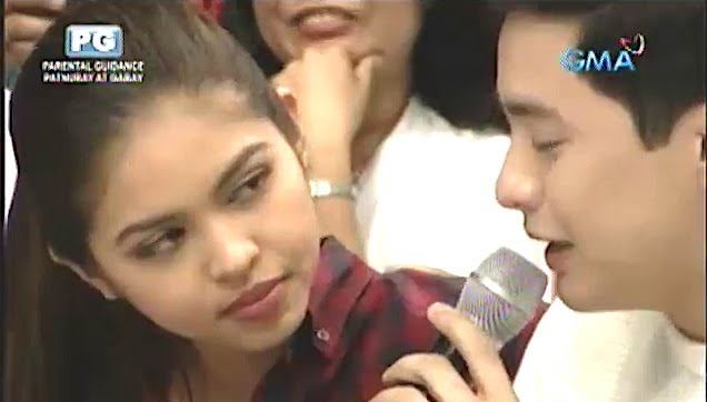 Alden Richards cries while giving his message to Maine Mendoza