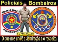 BOMBEIROS E POLICIAIS.