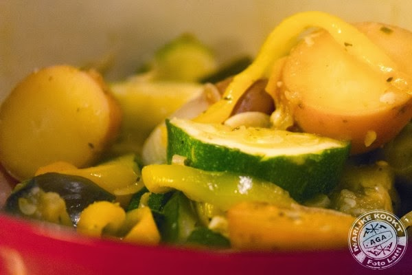 fontaine de légumes