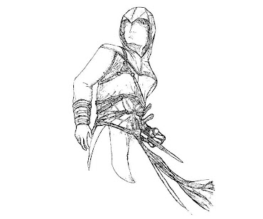 #1 Assassin's Creed Coloring Page