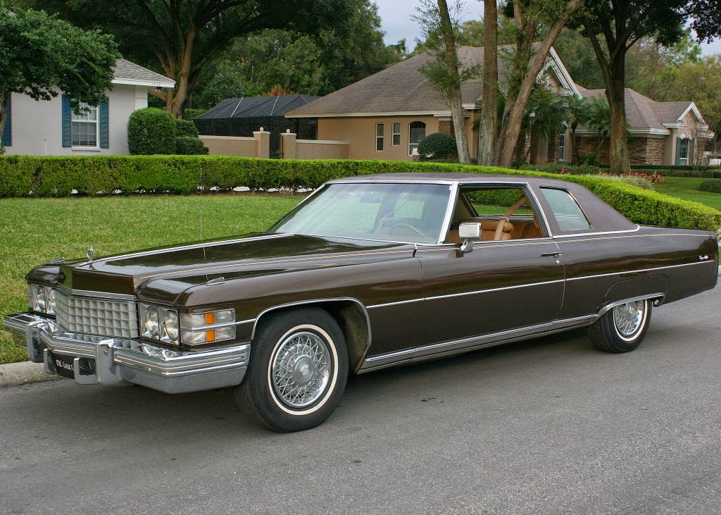 All american classic cars 1974 cadillac coupe de ville 2 for Door 2 door cars