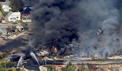 Lac-Megantic rail disaster photos