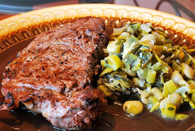 Jamie Oliver: Grilled Fillet Steak With The Creamiest White Beans And Leeks