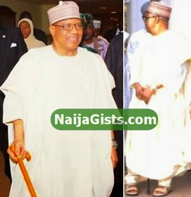 babangida using walking stick