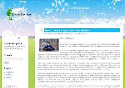 EcoBlog Wordpress Theme