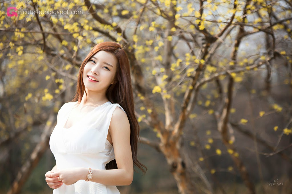 4 Yeon Ji Eun - Lovely Ji Eun In Outdoors Photo Shoot - very cute asian girl-girlcute4u.blogspot.com