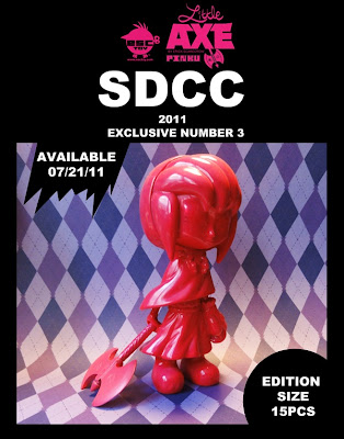 ESC Toy - San Diego Comic-Con 2011 Exclusive Little Axe Pinku Resin Figure by Erick Scarecrow