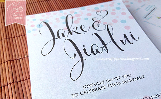 Singapore Wedding Card, Malaysia wedding card, kad kahwin modern, modern calligraphy wedding card