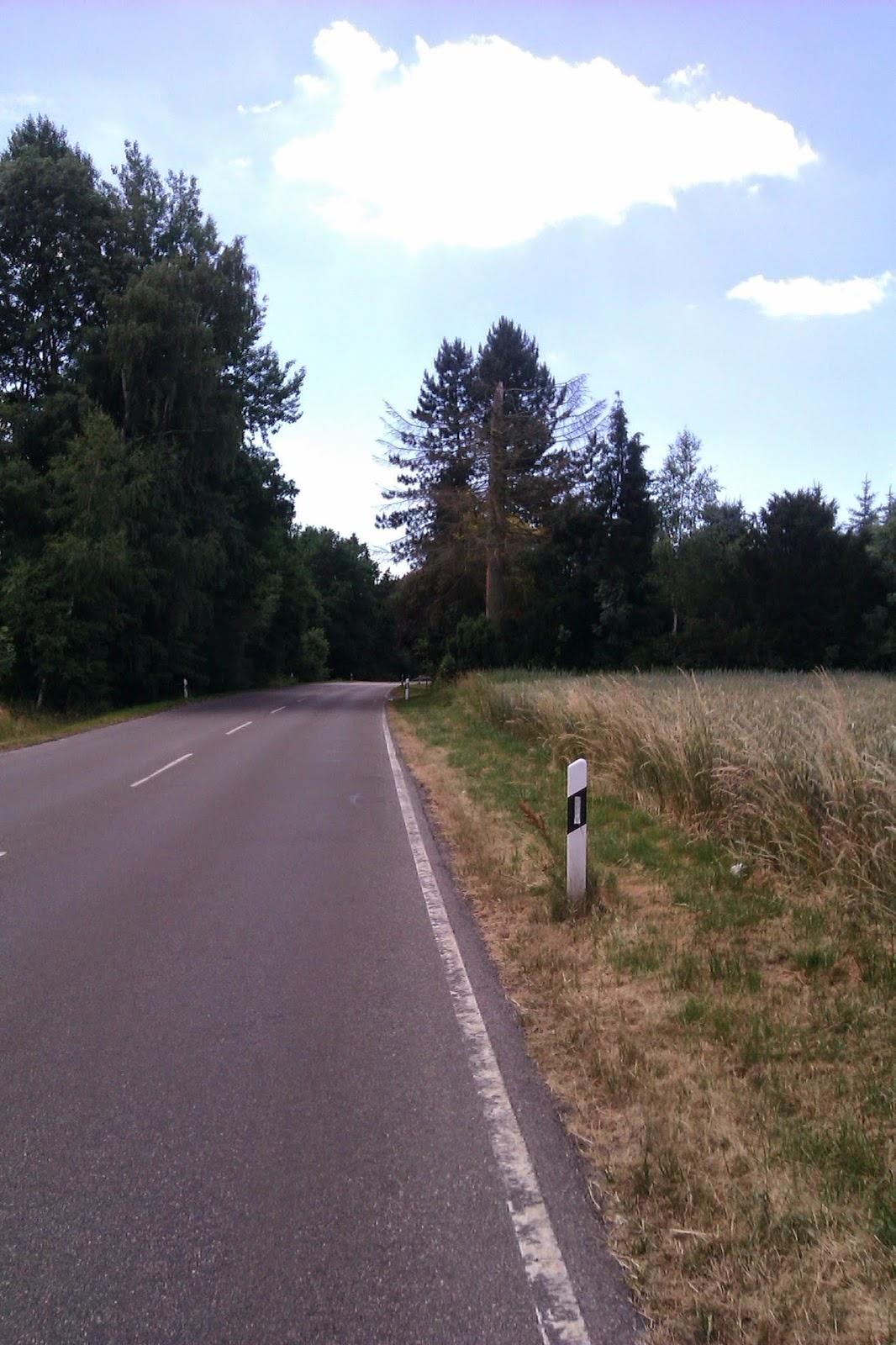Bayern Radfahrweg langweilig