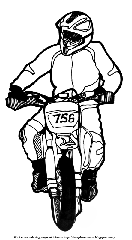 Description Of The Coloring Page Dirt Bike Race Front Wheel