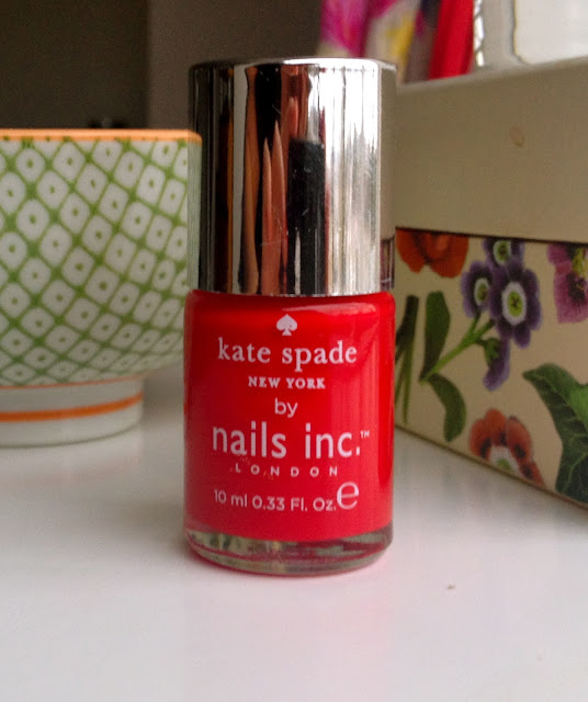 A picture of Kate Spade Nail Varnish in Red Apple