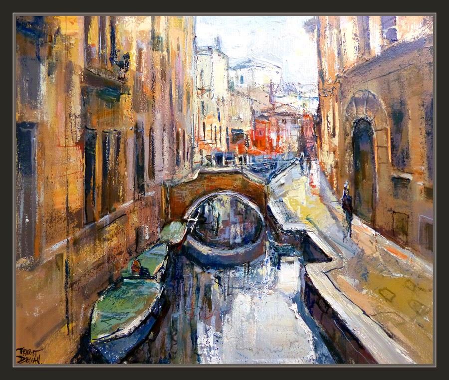 VENECIA-PINTURA-CANALES-PINTURAS-PAISAJES-ITALIA-CUADROS-ARTISTA-PINTOR-ERNEST DESCALS