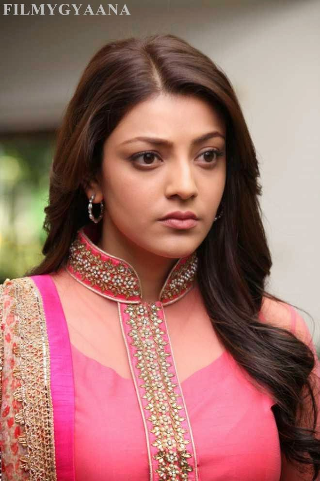 Kajal Aggrawal Latest Hot Photo in Pink Dress