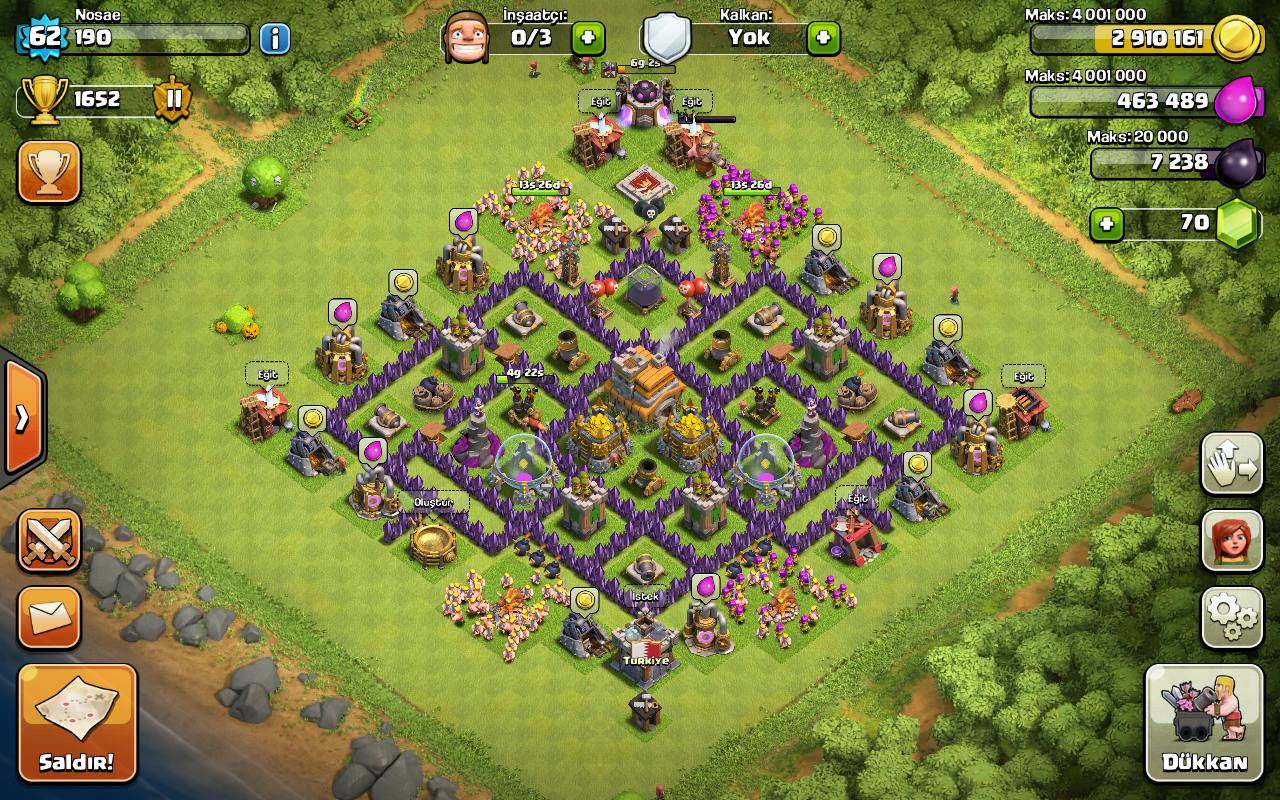 The gallery for --> Th8 Clan War Base Layout