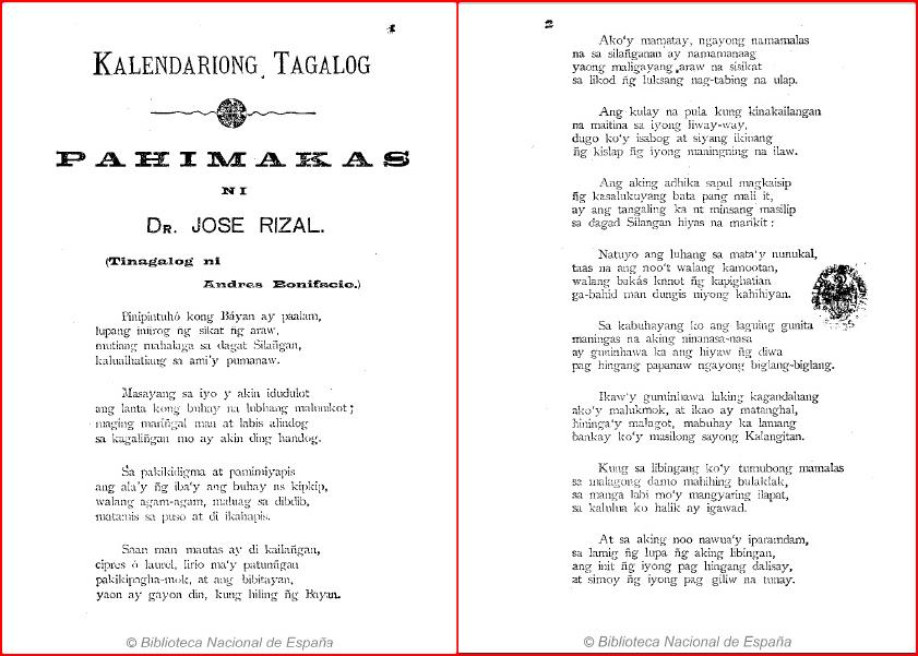 Huling Paalam (My Last Farewell)