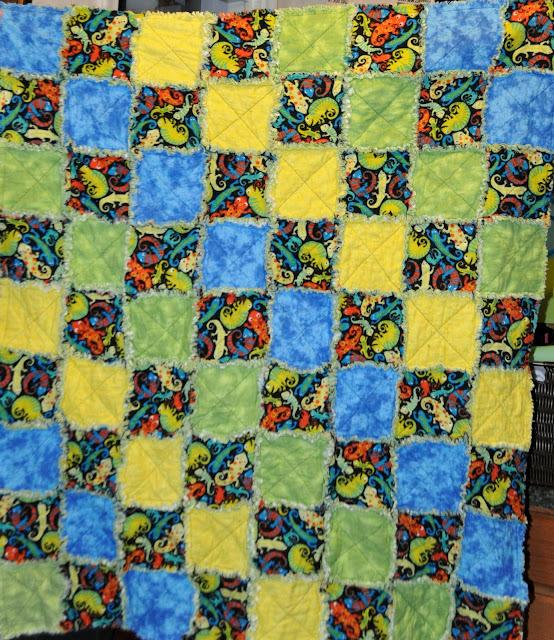 Richard and Tanya Quilts: Lizard Rag Quilt