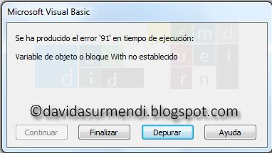 Error en tiempo de ejecución porque la variable MiRibbon a perdido el enlace con la Cinta de Opciones.