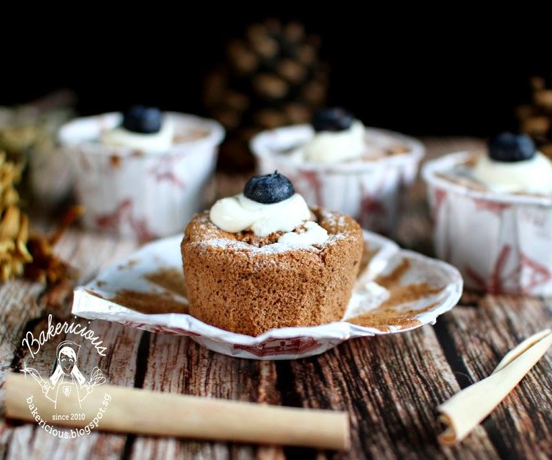 Chocolate Chiffon Cupcakes