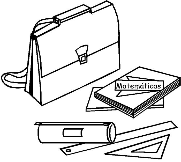 Articulos escolares para colorear - Imagui