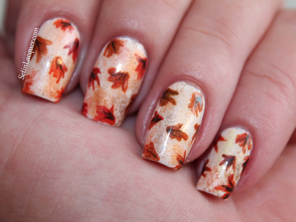 Autumn Leaves - Fall Nail Art