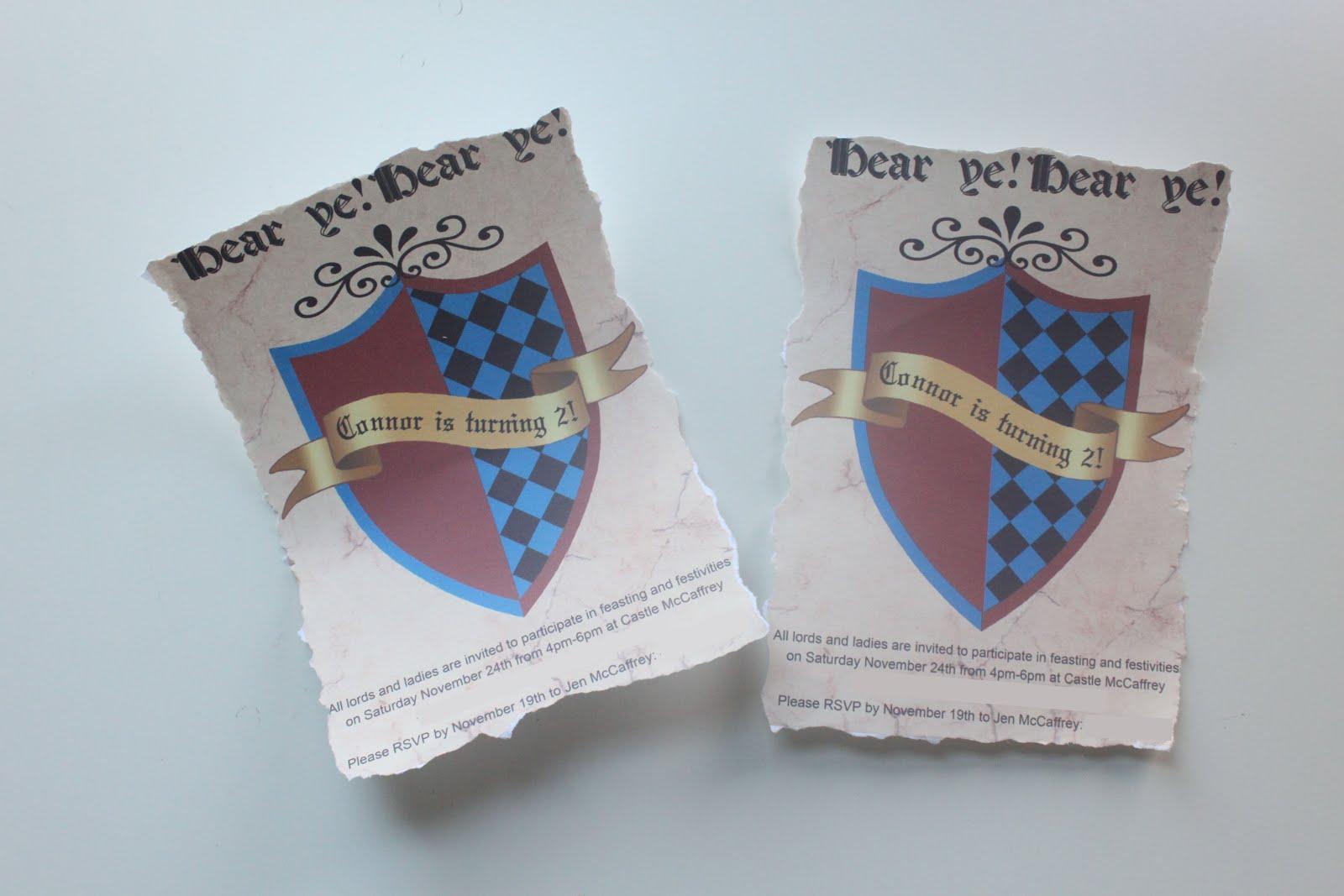 EATSLEEPMAKE Knight Birthday Party Invitations – Knight Birthday Invitations