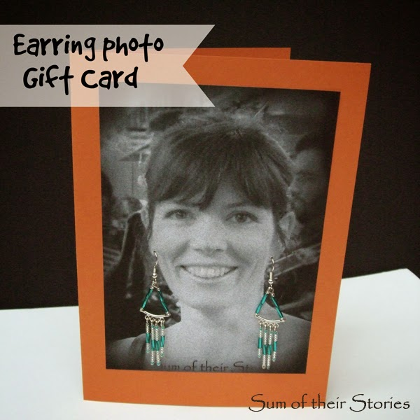 Photo Earring Gift Card