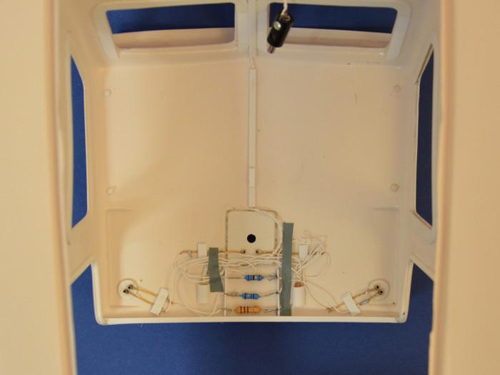 Graupner Marina Instandsetzung Verkabelung und verwendete Widerstände für Beleuchtung