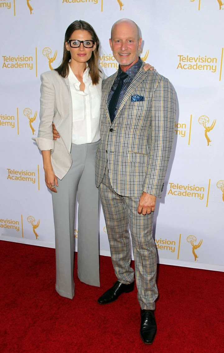 Stana Katic flaunts masculine inspired style at the 2014 Emmy Awards Costume Design and Supervision Nominee Reception