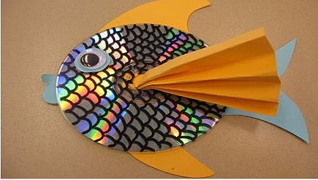 Ventana a las manualidades pez reciclado - Manualidades para ninos reciclaje ...