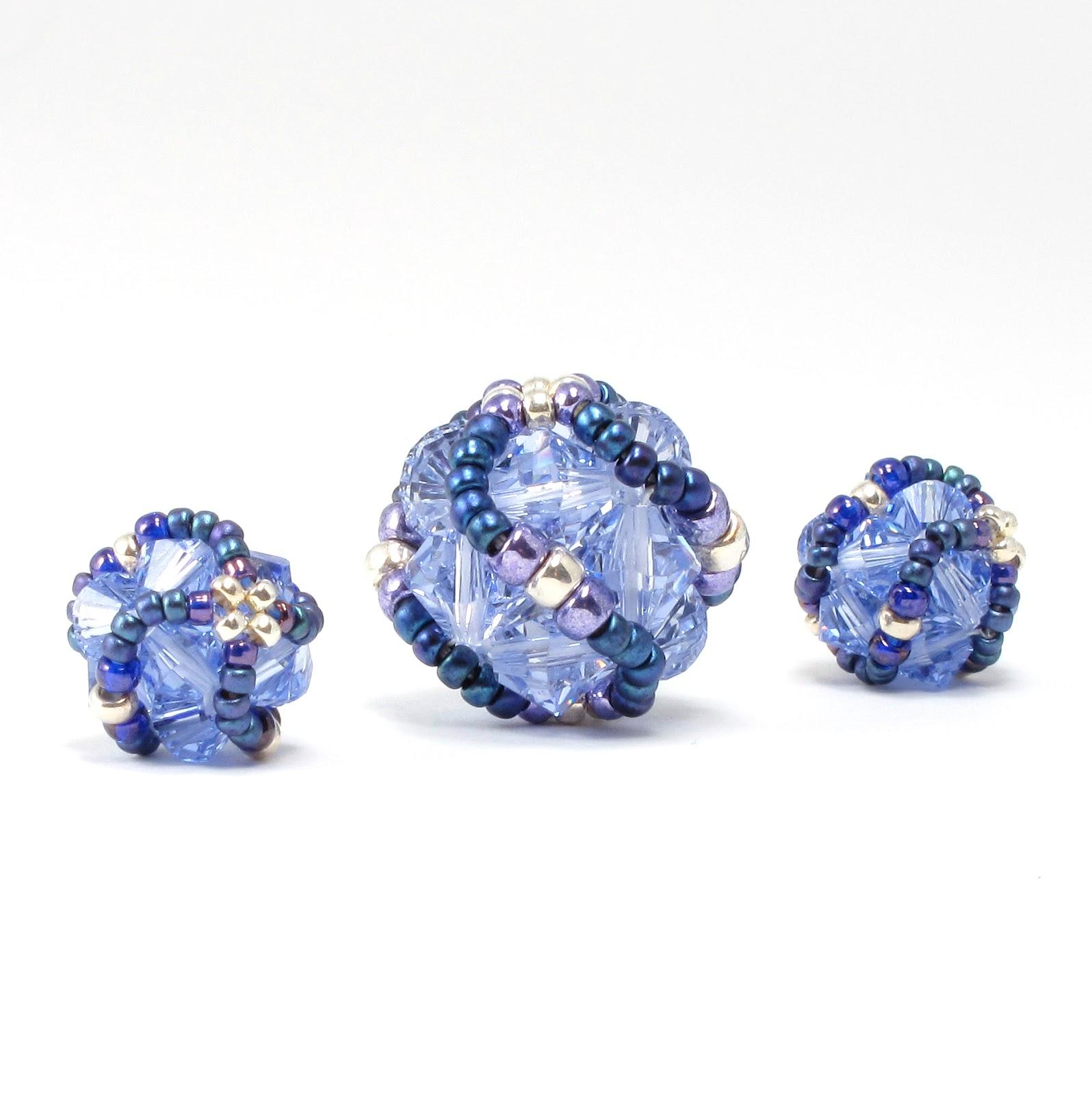 Crystal Bead Beads: Bead Origami: New Pattern: Crystal Helix Beaded Bead