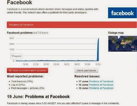 Facebook Down di Berbagai Negara