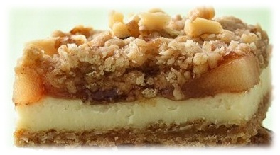 My Favorite Things: Apple Streusel Cheesecake Bars with an Oatmeal ...