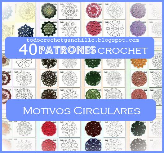 40 esquemas ganchillo circulares