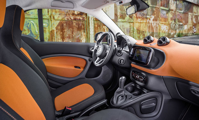 2015 New Smart ForTwo interior