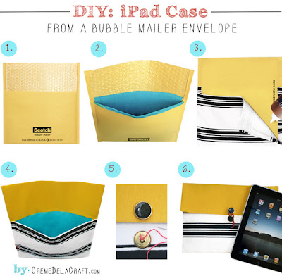 DIY clutch iPad
