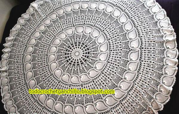 Patrones ganchillo carpeta circular