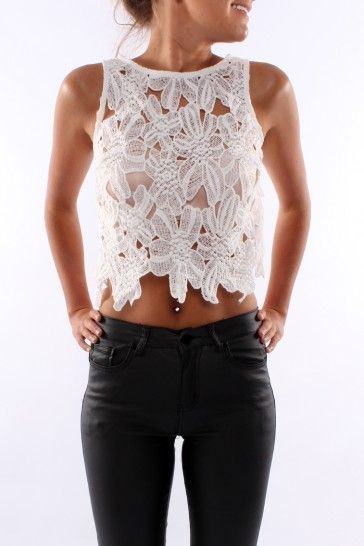 white crop top  Covet Living Best looks for Summer '14