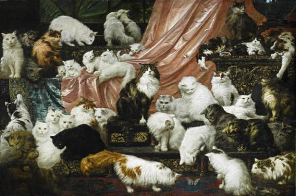 Самая дорогая картина с котами