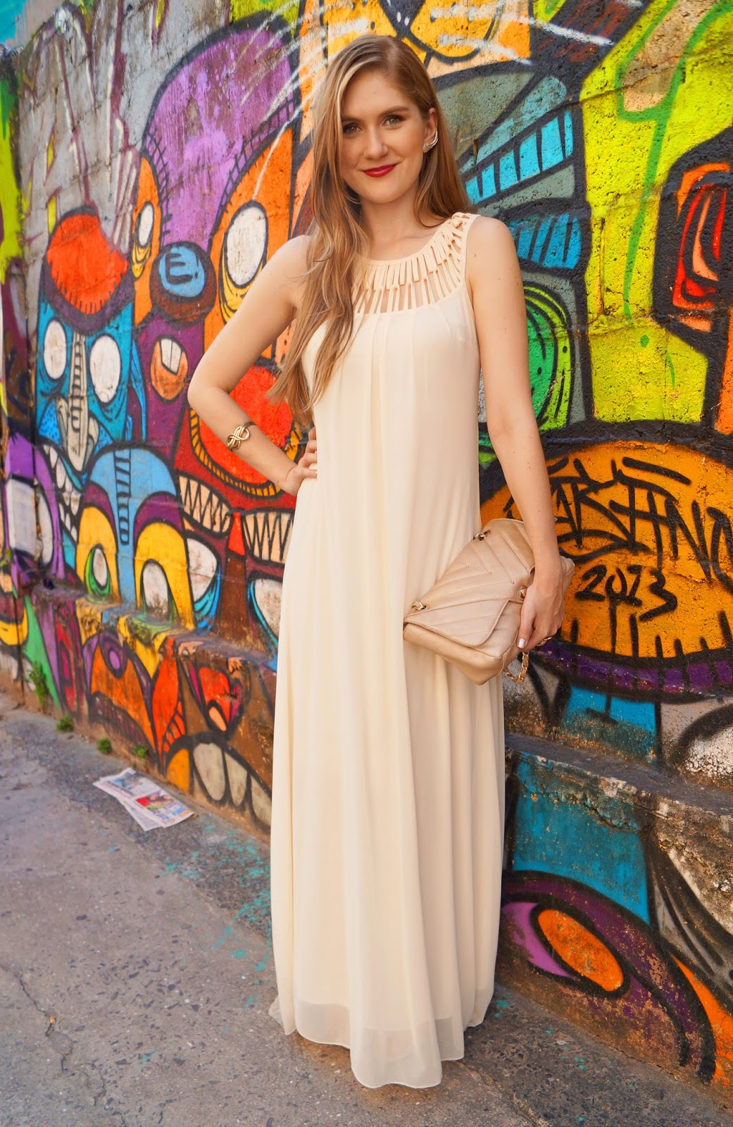 White Maxi Dress Summer Outfit