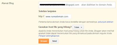 Custom Domain Blogspot (selesai)
