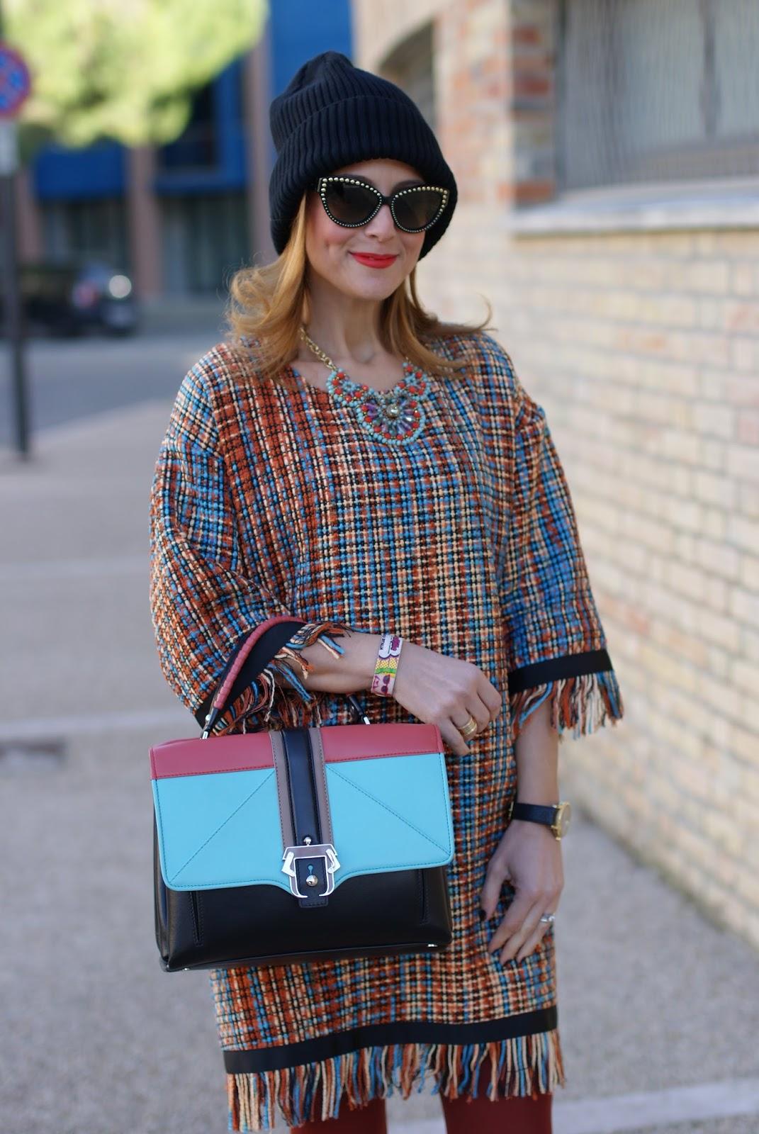 Vogos Gigi dress, Mac Viva Glam 2 lipstick and Paula Cademartori Faye bag on Fashion and Cookies fashion blog, fashion blogger style